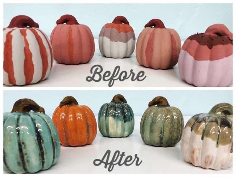 Specialty Glaze Pumpkin  Painting at the Vineyard