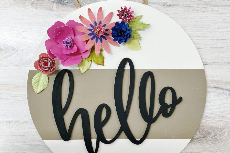 HELLO Door hanger by Art at the BODEGA